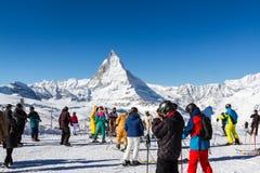 Corsa con gli sci Zermatt Fotografia Stock Libera da Diritti