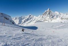 Corsa con gli sci Zermatt Immagini Stock Libere da Diritti