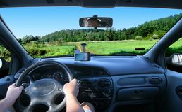 Corsa con il GPS Fotografia Stock