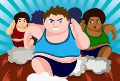 Corsa contro grasso Fotografia Stock