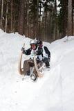 Corsa cornuta 2012 della slitta in Turecka, Slovacchia Fotografia Stock