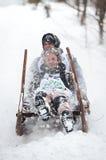 Corsa cornuta 2012 della slitta in Turecka, Slovacchia Fotografie Stock Libere da Diritti