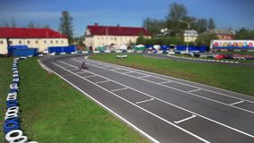 Corsa da go-cart stock footage