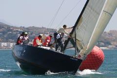 Corsa degli yacht a Malaga, Spagna Immagine Stock Libera da Diritti