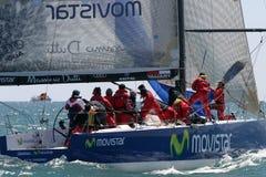 Corsa degli yacht a Malaga, Spagna Fotografia Stock Libera da Diritti