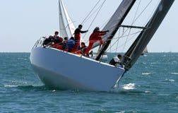 Corsa degli yacht a Malaga, Spagna Immagini Stock Libere da Diritti