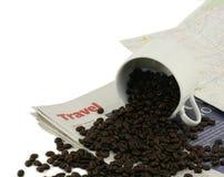 Corsa dei chicchi di caffè Immagine Stock