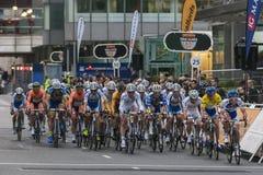 Corsa dei ciclisti fotografie stock