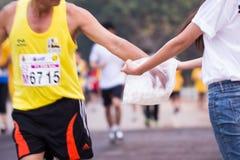 Corsa dei corridori maratona nel 2015 Fotografia Stock Libera da Diritti