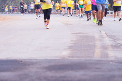 Corsa dei corridori maratona nel 2015 Fotografia Stock