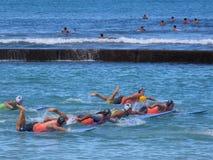 Corsa dei surf Immagini Stock