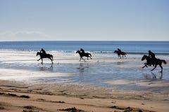 Corsa dei tubi flessibili sulla spiaggia Immagine Stock
