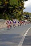 Corsa del ciclo da Milano a San Remo Fotografia Stock