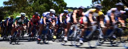 Corsa del ciclo I Fotografia Stock
