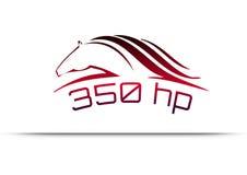 Corsa del concetto di logo di velocità Fotografia Stock