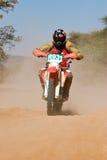 Corsa del deserto della bici Fotografia Stock Libera da Diritti