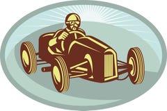 Corsa del driver della macchina da corsa Fotografia Stock Libera da Diritti