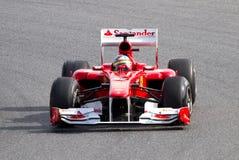 Corsa del Ferrari F1 Fotografia Stock