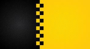 Corsa del fondo arancio, modello di copertura del taxi illustrazione di stock