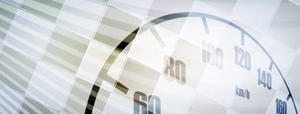 Corsa del fondo di velocità, astrazione dell'illustrazione di vettore nella pista dell'automobile royalty illustrazione gratis