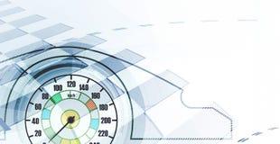 Corsa del fondo quadrato, astrazione dell'illustrazione di vettore Fotografia Stock Libera da Diritti