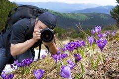 corsa del fotografo Fotografie Stock Libere da Diritti