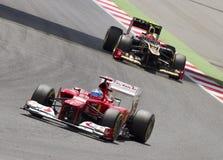 Corsa del GP di formula 1 - Fernando Alonso Immagine Stock Libera da Diritti