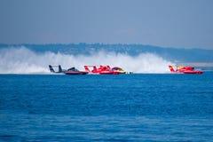 Corsa del Hydroplane alla tazza Seattle Seafair della Chevrolet immagine stock libera da diritti