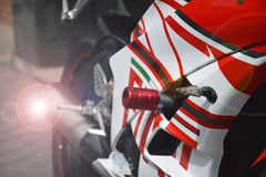 Corsa del motociclo Immagini Stock Libere da Diritti