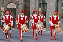 Corsa del Palio i Siena, Tuscany, Italien royaltyfri foto