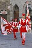 Corsa Del Palio w Siena, Tuscany, Włochy zdjęcie stock