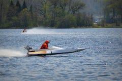 corsa del powerboat fotografie stock