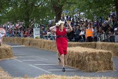 Corsa 2015 del Soapbox di Redbull Fotografie Stock
