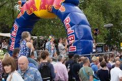 Corsa 2015 del Soapbox di Redbull Fotografia Stock