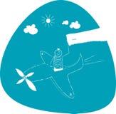 Corsa dell'aeroplano Fotografia Stock