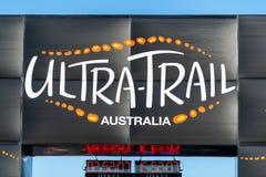 Corsa dell'Australia UTA11 della Ultra-traccia Orologio della corsa e dell'arrivo fotografia stock libera da diritti
