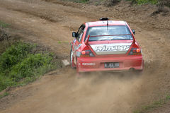 Corsa dell'automobile di raduno Fotografia Stock Libera da Diritti
