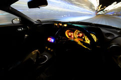 Corsa dell'automobile sportiva Fotografia Stock Libera da Diritti