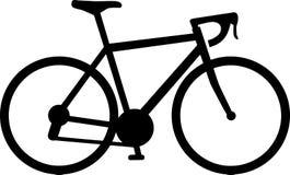 Corsa dell'icona della bici illustrazione di stock