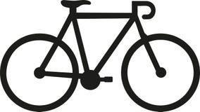 Corsa dell'icona della bici Immagini Stock
