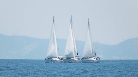 Corsa dell'yacht Fotografia Stock