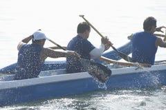 Corsa della canoa di intelaiatura di base della gru fotografia stock