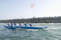 Corsa della canoa di intelaiatura di base della gru Fotografia Stock Libera da Diritti