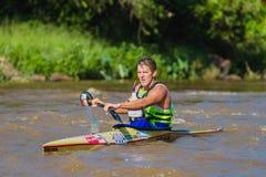 Corsa della canoa di Len Jenkins Dusi Fotografia Stock Libera da Diritti