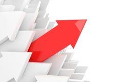 corsa della freccia 3d Fotografia Stock
