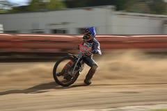 Corsa della gara motociclistica su pista Immagini Stock