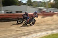 Corsa della gara motociclistica su pista Immagine Stock