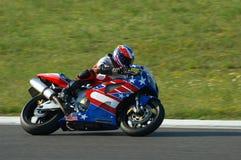 Corsa della motocicletta Fotografie Stock