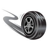 Corsa della rotella Immagine Stock