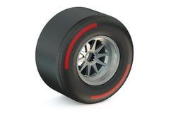 Corsa della ruota con il pneumatico duro royalty illustrazione gratis